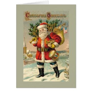 Salutations de Noël Carte De Vœux