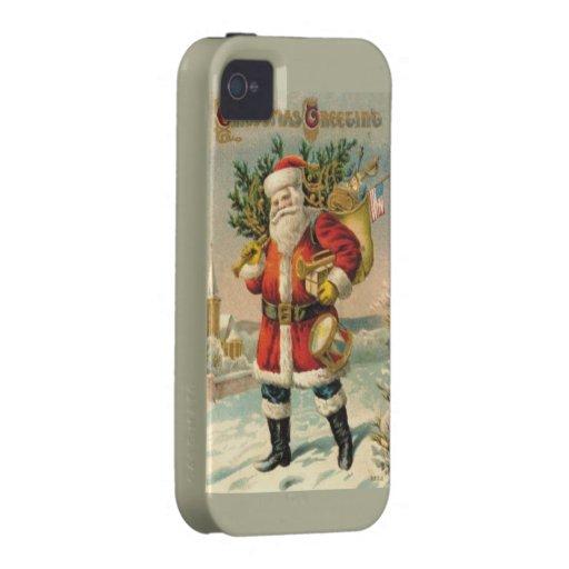Salutations de Noël iPhone 4 Case