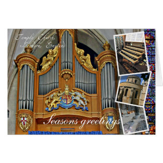 Salutations de Noël de Londres d'église de temple Carte De Vœux