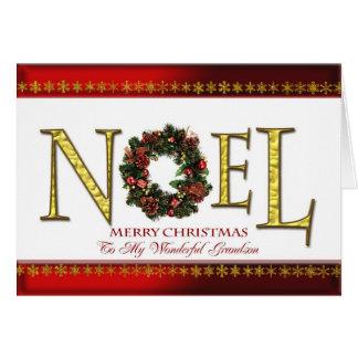 Salutations de Noel pour le petit-fils Carte De Vœux