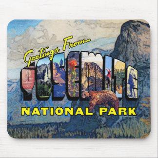 Salutations de parc national de Yosemite Tapis De Souris