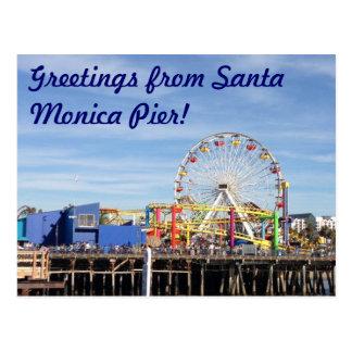 Salutations de pilier de Santa Monica ! Cartes Postales