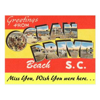 Salutations de plage d'entraînement d'océan carte postale