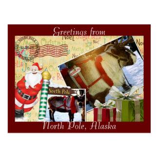 Salutations de Pôle Nord, Alaska Carte Postale