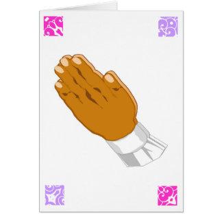 Salutations de prière de Pâques de mains I Carte De Vœux