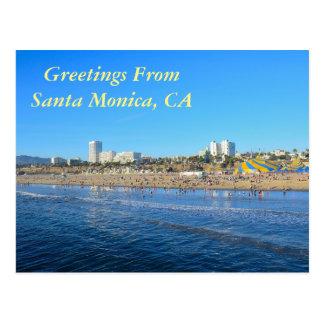 Salutations de Santa Monica la Californie Carte Postale