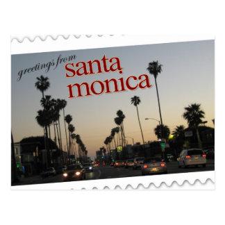 Salutations de Santa Monica, la Californie Carte Postale