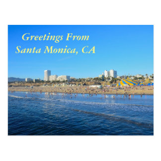 Salutations de Santa Monica la Californie Cartes Postales