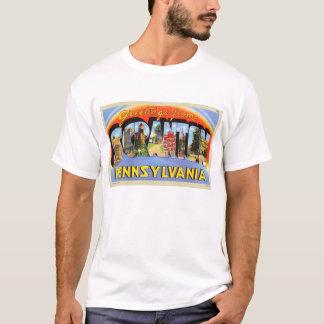 Salutations de Scranton, carte postale de lettre T-shirt