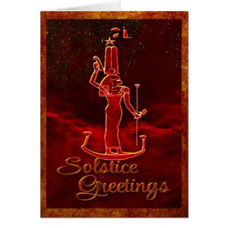 Salutations de solstice carte de vœux