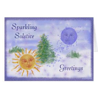Salutations de solstice cartes