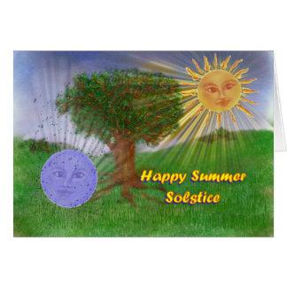 Salutations de solstice d'été carte de vœux