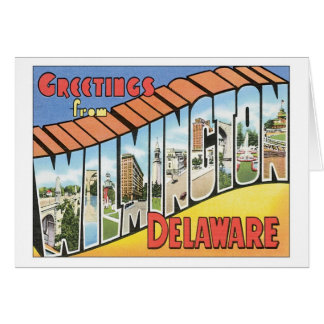 Salutations de Wilmington Delaware Cartes