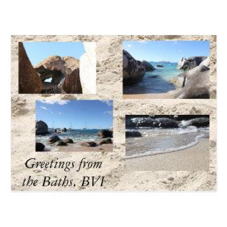 Salutations des bains, Îles Vierges britanniques Cartes Postales