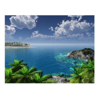 Salutations des îles carte postale