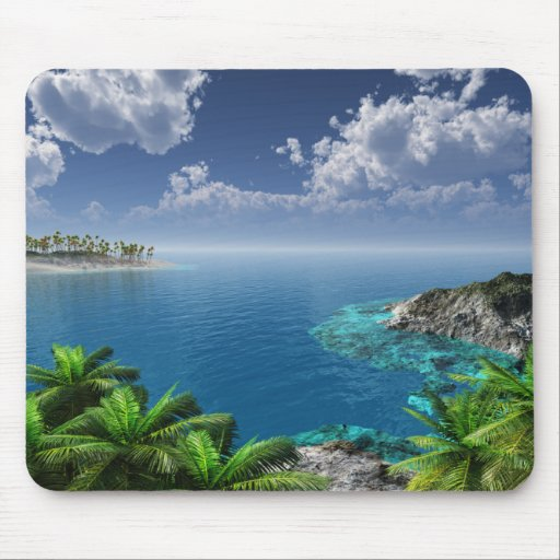 Salutations des îles tapis de souris