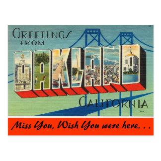 Salutations d'Oakland Cartes Postales
