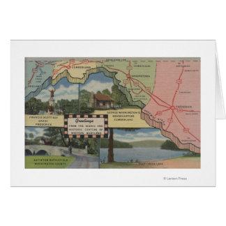 Salutations du Maryland occidental (carte Carte De Vœux