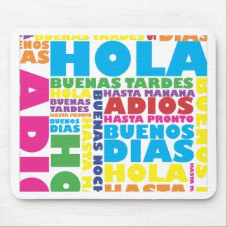 Salutations espagnoles tapis de souris