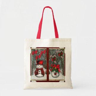 Salutations givrées de Noël Tote Bag