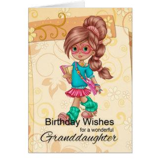 Salutations mignonnes et à la mode de petite-fille cartes