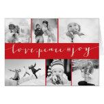 Salutations multi de photo de vacances de grille d carte de vœux
