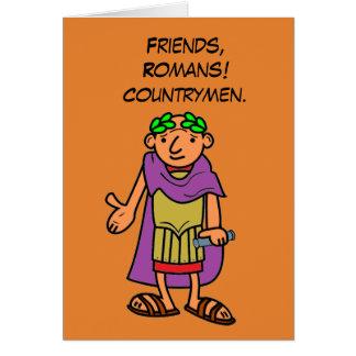 Salutations romaines de joyeux anniversaire carte de vœux