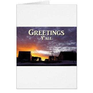 Salutations vous carte de vœux