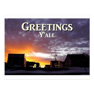 Salutations vous carte postale