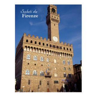 """Saluti carte postale du DA Firenze"""