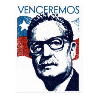 Salvador Allende - Venceremos Carte Postale