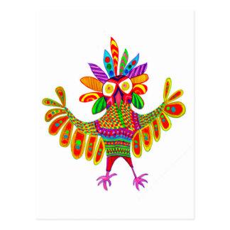 Sam la carte postale de hibou de mardi gras