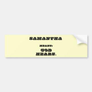 Samantha Autocollant Pour Voiture