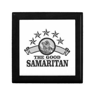 Samaritain de voûte d'étoile petite boîte à bijoux carrée