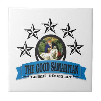 Samaritain d'étoile bleue petit carreau carré