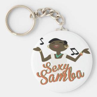 Samba sexy porte-clé rond