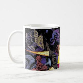Samedi soir tasse de café cosmique d'opéra de