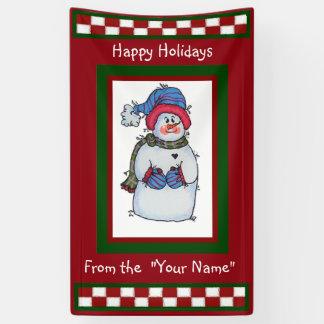 Sammy la bannière de bonhomme de neige