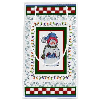 Sammy le petit sac de cadeau de bonhomme de neige
