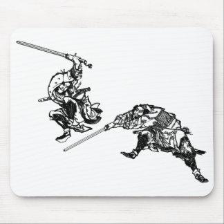 Samouraïs 2 de manga de Hokusai Tapis De Souris
