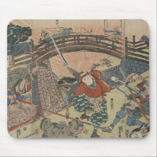 Samouraïs à l'aide de deux épées dans la bataille  tapis de souris