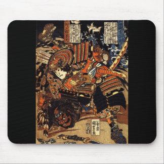 Samouraïs dans le combat, circa 1800's tapis de souris