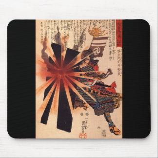 Samouraïs défendant contre la coquille de explosio tapis de souris