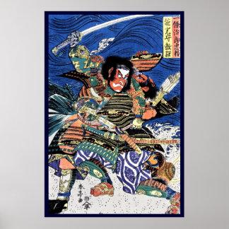 Samouraïs légendaires de guerrier d'ukiyo-e posters