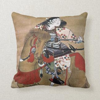 Samouraïs montés coussin