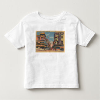 San Francisco, avenue de CAGrant dans Chinatown T-shirt Pour Les Tous Petits
