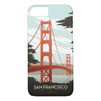 San Francisco, CA - golden gate bridge Coque iPhone 7