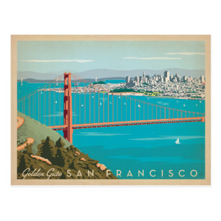 San Francisco, CA - Golden Gate Carte Postale