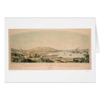 San Francisco, carte panoramique 1849 (1626A) de
