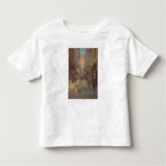 San Francisco, CAView de vieille rue de Chinatown T-shirt Pour Les Tous Petits